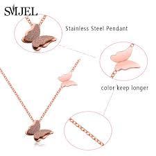smjel stainless steel cute mickey pendant necklace acero inoxidable jewelry women cartoon minnie castle choker kids