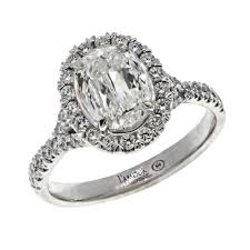 Christopher Designs Ring Christopher Designs Pave Halo Diamond Engagement Ring With Prong Set Oval Crisscut Center Diamond L103 Lov100 Solomon Brothers