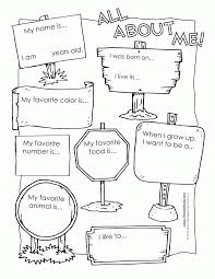 Small Picture All About Me Coloring Page Coloring Home