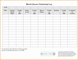 Blood Test Chart Template Diabetic Blood Charts 2019