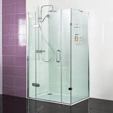 decem hinged door with two inline panels and side panel for corner fitting