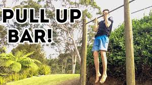How To Build A PULL UP BAR  YouTubeDiy Backyard Pull Up Bar