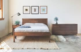 Hand Made Solid Walnut Queen Bed Frame And Headboard by Hedge House ...