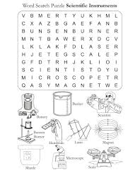 Word Search Puzzle Scientific Instrments | Download Free Word ...