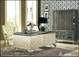 old hollywood glam furniture. Hollywood Glam Furniture Glamour Swank Desk With Metal Legs Old Style Monochrome . L