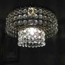 vintage chandelier light shade glass 2 tier