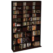 Cherry Wood Dvd Storage Cabinet Amazoncom Atlantic Adustable Media Storage Organization