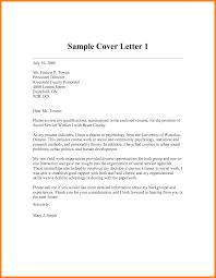 Sample Cover Letter Social Work Student Cover Letter