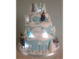 cakes for girls 9th birthday frozen. Delighful 9th 3 Tier Frozen Themed Birthday Cake With Lights In Chocolate Sponge And  Vanilla For 3rd For Cakes Girls 9th Birthday