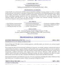 Sample Lvn Resume Cv Cover Letter Crna Lpn Inside Licensed Practical