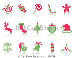 Isolated Simple Christmas Icons Set From White Background