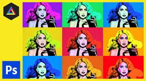 create a pop art poster andy warhol style pop art lady ga ga photo cs5 you