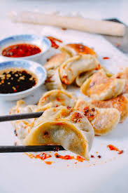 Asian vegetable dumplings meals