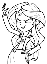 Small Picture My Little Pony Princess Sunset Shimmer Coloring Page My Little
