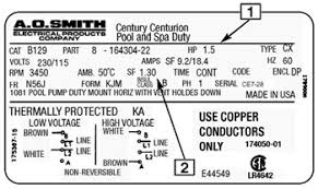 ao smith water pump wiring diagram wiring diagram and schematic a o smith 9452a ao 1 2 hp pedestal fan motor 115 230