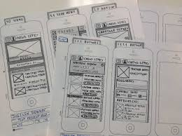 Or, you can use a simple app for it known as Paper App. You can sketch  different versions of your app and see which looks better.