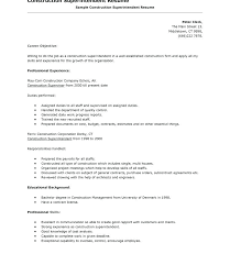 Construction Superintendent Resume Templates Enchanting Superintendent Resume Sample Yomm