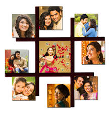 personalized 9 pic multi photo frame