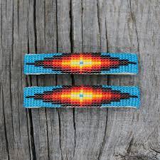 navajo bead designs. BEADED BARRETTES BY CORA ARVISO NAVAJO Navajo Bead Designs C