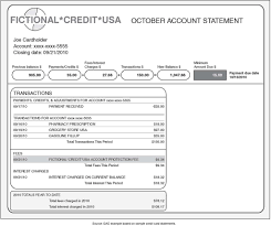 Figure 3 Illustrative Example Of Credit Card Monthly Bill