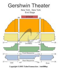 Gershwin Theatre Seating Chart View Seating Chart For Gershwin Theater Gershwin Theater Seating