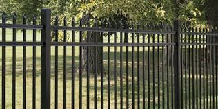Vinyl fence with metal gate Aluminum Metal Fencing Weatherables Fencing Gates