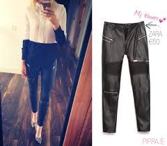 leather zipper pants zara best style man and woman