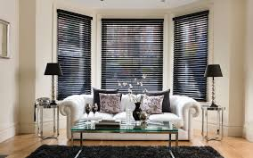Window Decoration Interior Gorgeous Window Decoration With Wooden Blind For Bay