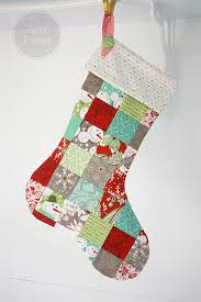 Sew What : Patchwork Christmas Stockings | BasicGrey Blog & I am here today to share a pattern for a simple patchwork Christmas stocking . Adamdwight.com