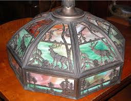 antique stained glass chandelier lighting