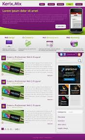Web 2 0 Design Template Free Layered Psd Template With Web 2 0 Look Web Free Psd