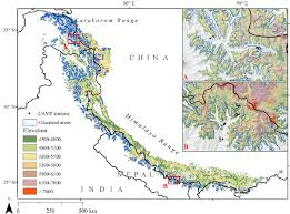 Study Region Showing Glaciated Areas From The Digital Chart