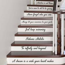 Stairs Quotes Magnificent Stair Decals Disney Quotes Best Stairway Decals Quote 48 Steps Etsy