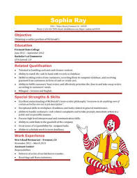 Exelent Resume Format Sample For Fast Food Crew Photos Resume