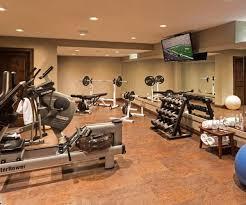 basement gym ideas. Plain Gym This Upscale Basement Gym Has A Water Rower  How Fun In Basement Gym Ideas