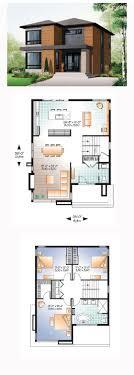 Contemporary Modern House Plan   Modern House Plans  Modern    Modern House Plan   Total Living Area  sq  ft