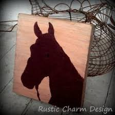 horse head silhouette by rustic charm design on etsy arts crafts rustic charm