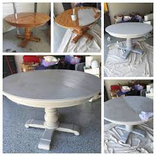 Rustoleum Driftwood Stain Grey Wash Pedestal Dining Table With Annie Sloan Chalk Paint