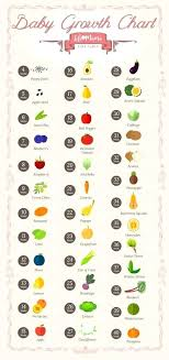 Fruit Comparison Chart Baby Growth Pregnancy Online Charts Collection