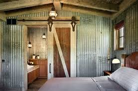 corrugated metal in interior design corrugated metal ceiling farmhouse bedroom with corrugated metal walls architects corrugated