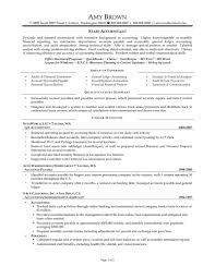 Senior Accountant Resume 19 Accounts Objective Best Civil Service Accounting
