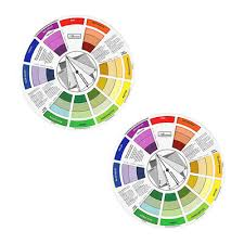 2x Coloring Matching Guide Color Wheel Mixing Chart