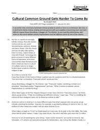 Which quote best supports your answer to the previous question? Cultural Common Ground Gets Harder To Come By Commonlit Answers Fill Online Printable Fillable Blank Pdffiller