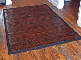 bamboo area rugs mats