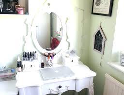 Makeup Vanity Accessories Contemporary White Bedroom Vanity Table ...