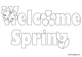 Spring Coloring Pages For Free Collection Of Spring Coloring Pages
