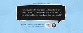 Employees with clear goals and standards are usually harder on ... via Relatably.com