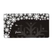 Black Tags Christmas Labels Zazzle Com Au