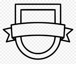 shield ribbon sport png badge