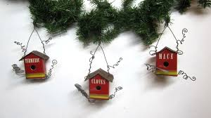 ... Vintage Spice Tin Birdhouse Christmas Tree Ornaments   by The Dusty  Raven Gallery